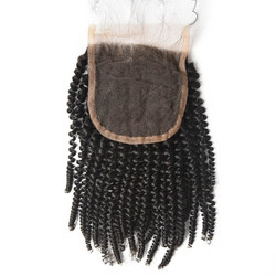 Best Selling 4x4 Kinky Curly Virgin Human Hair Lace Closure For Women