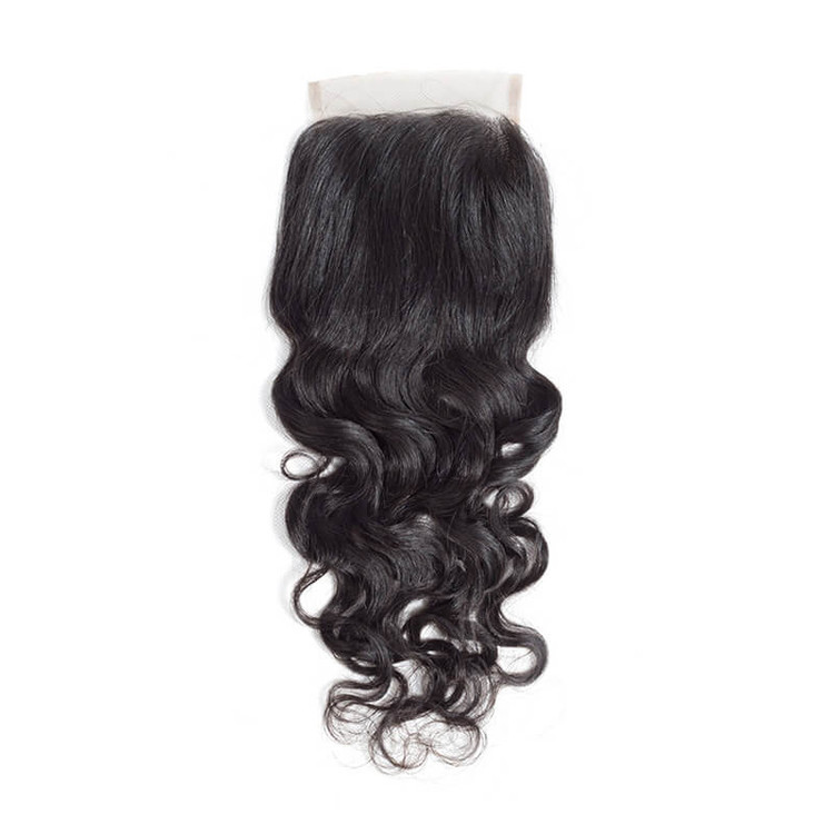 Hot Virgin Hair Natural Wave Lace Closure 4*4 Deals, 12-26 Inch lc009