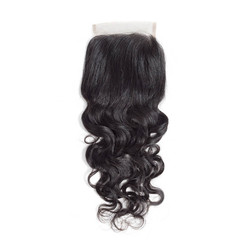 Hot Virgin Hair Natural Wave Lace Closure 4*4 Deals, 12-26 Inch