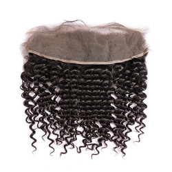 Cheapest Virgin Hair Deep Wave Lace Frontal, Natural Back