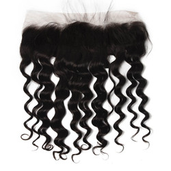 Human Hair 13*4 Loose Curly Lace Frontal, Smooth & Shiny 8-28 Inches