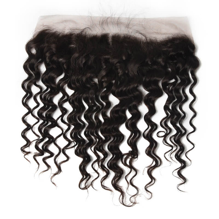 Soft Like Silk Brazilian Hair Frontal, Water Wave Lace Frontal 13x4 Inches lf007