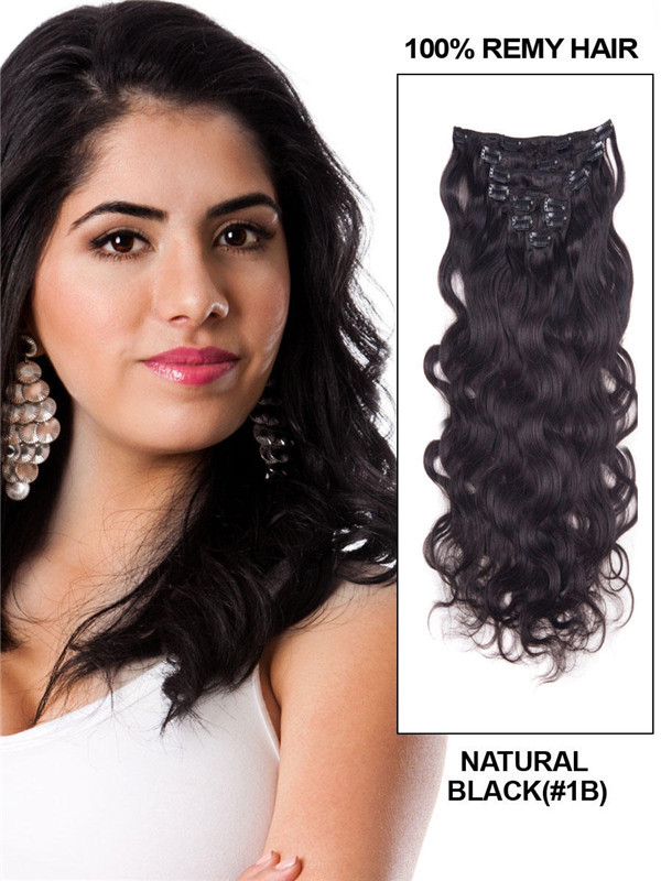 Natural Black(#1B) Ultimate Body Wave Clip In Remy Hair Extensions 9 Pieces cih015
