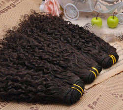 7A Virgin Brazilian Hair Extensions Romance Curly Natural Black bhw040