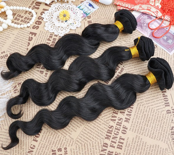 7A Virgin Brazilian Hair Extensions Loose Wave Natural Black