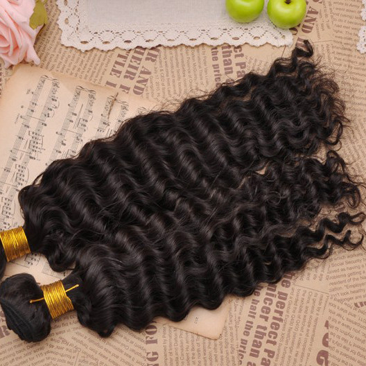 7A Virgin Brazilian Hair Extensions Water Wave Natural Black bhw030