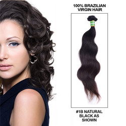 1 pcs 7A Virgin Brazilian Hair Extensions Body Wave Natural Black