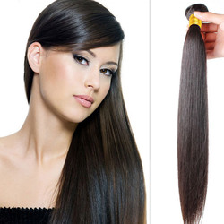 Virgin Brazilian Silky Straight Hair Bundles Natural Black 1pcs