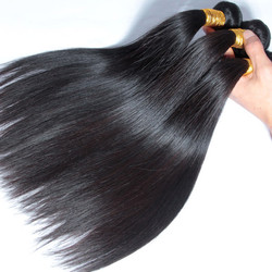 3 Bundles Natural Black 8A Silky Straight Virgin Brazilian Hair Weave