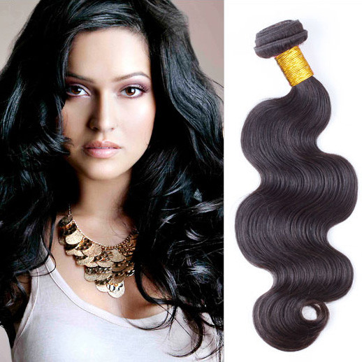1 pcs Body Wave 8A Virgin Brazilian Hair Natural Black