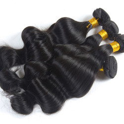3 pcs Body Wave 8A Natural Black Brazilian Virgin Hair Weave bhw008