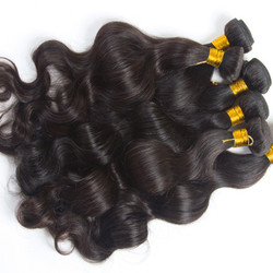 4 pcs Body Wave 8A Natural Black Brazilian Virgin Hair Bundles