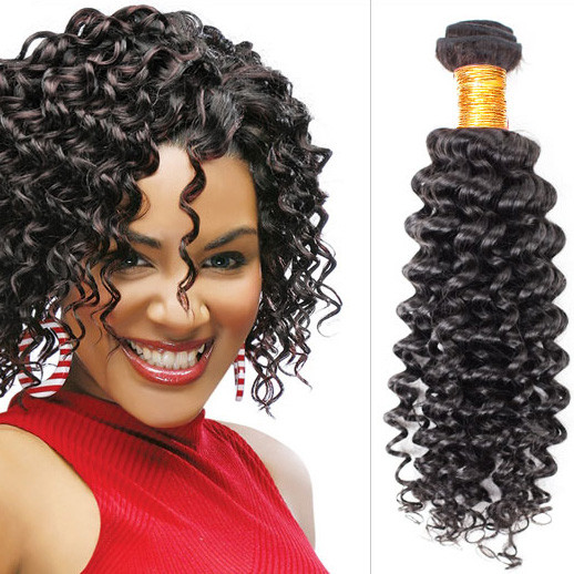 Virgin Brazilian Deep Wave Hair Bundles Natural Black 1pcs bhw012