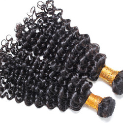 2 Bundle Deep Wave Natural Black 8A Brazilian Virgin Hair Weave bhw013