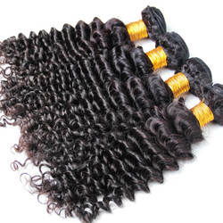4 Bundle Deep Wave 8A Brazilian Virgin Hair Weave Natural Black bhw015