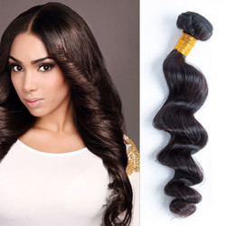 Virgin Brazilian Loose Wave Hair Bundles Natural Black 1pcs