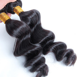 2 Bundles Loose Wave Natural Black 8A Brazilian Hair Weave