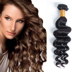 1 Bundle Natural Wave 8A Brazilian Virgin Hair Natural Black