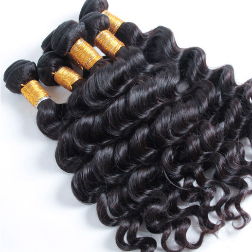 2 pcs Natural Wave 8A Natural Black Brazilian Virgin Hair Weave