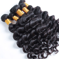 2 pcs Natural Wave 8A Natural Black Brazilian Virgin Hair Weave bhw018
