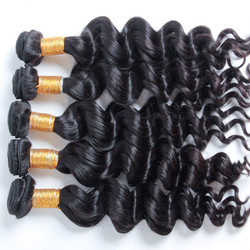 3 Bundle Natural Wave 8A Natural Black Virgin Brazilian Hair Weave Natural Black