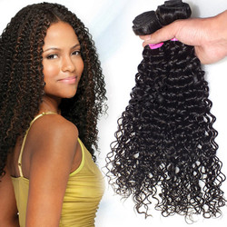 1 Bundle Natural Black Kinky Curl 8A Virgin Brazilian Hair Weave
