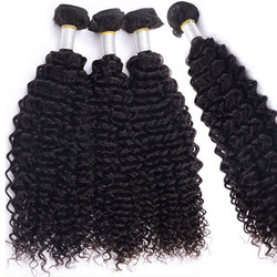 4 pcs/lot 8A Brazilian Virgin Hair Weave Kinky Curly Natural Black