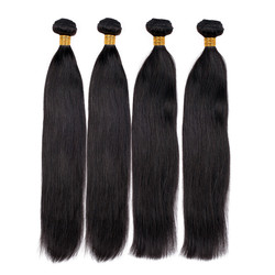 4 Bundles 7A Virgin Brazilian Hair Weave Straight Natural Black