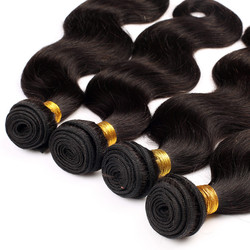 4 Bundles 7A Virgin Brazilian Hair Bundles Body Wave Natural Black