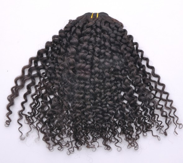7A Virgin Indian Hair Extensions Kinky Curl Natural Black ihw014