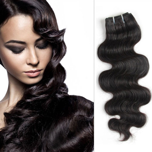 1 bundle 7A Virgin Indian Hair Body Wave Natural Black ihw005