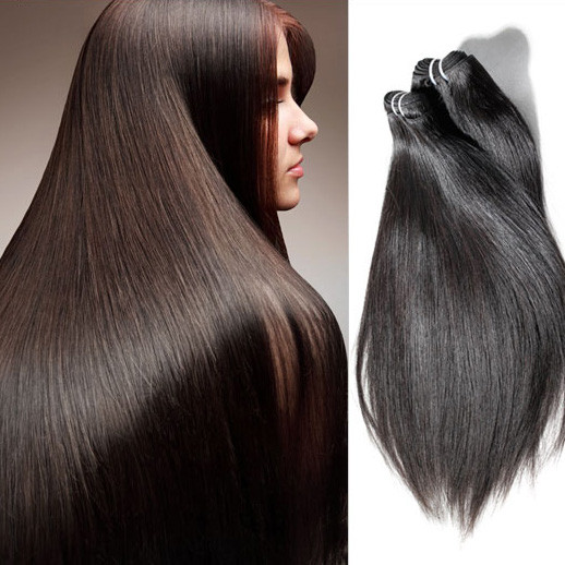 1pcs 7A Virgin Indian Hair Silky Straight Natural Black ihw001