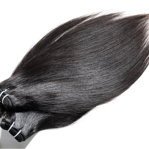 2pcs 7A Silky Straight Virgin Indian Hair Weave Natural Black ihw002