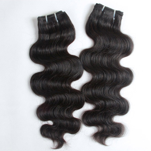 2pcs 7A Body Wave Virgin Indian Hair Weave Natural Black