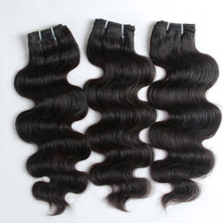 3pcs 7A Indian Virgin Hair Weave Body Wave Natural Black ihw007