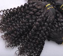 7A Malaysian Virgin Hair Weave Kinky Curl Natural Black mhw017