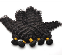 7A Malaysian Virgin Hair Weave Water Wave Natural Black mhw018