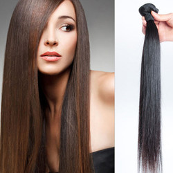 1 pcs 7A Virgin Malaysian Hair Weave Silky Straight Natural Black
