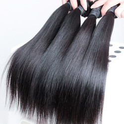 4 pcs 7A Silky Straight Malaysian Virgin Hair Weave Natural Black