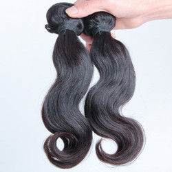 2 pcs 7A Body Wave Malaysian Virgin Hair Weave Natural Black mhw006