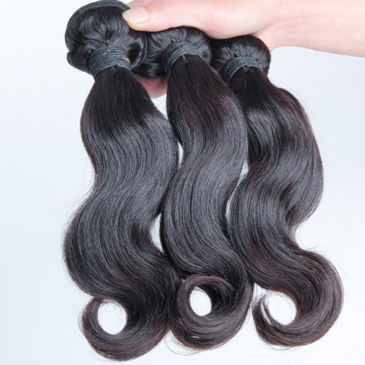 3 pcs 7A Virgin Malaysian Hair Weave Body Wave Natural Black mhw007