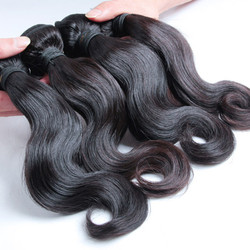 4 pcs 7A Body Wave Malaysian Virgin Hair Weave Natural Black mhw008