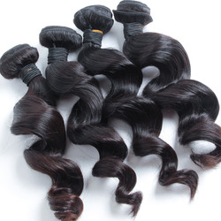 4 pcs 7A Loose Wave Malaysian Virgin Hair Weave Natural Black Cheap Price