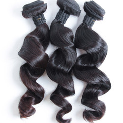 3 pcs 7A Virgin Malaysian Hair Weave Loose Wave Natural Black