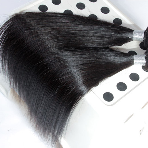 2 bundles 7A Virgin Peruvian Hair Silky Straight Weave Natural Black phw002