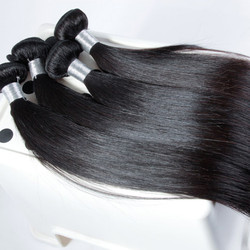 4 bundles 7A Virgin Peruvian Hair Silky Straight Weave Natural Black phw004