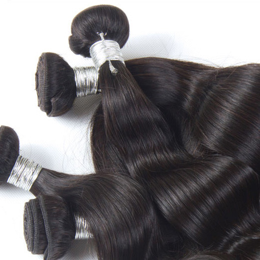 3 pcs 7A Peruvian Virgin Hair Weave Natural Black Body Wave phw007