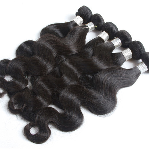 4 pcs 7A Peruvian Virgin Hair Body Wave Weave Natural Black phw008