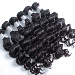 2 pcs 7A Natural Wave Virgin Peruvian Hair Weave Natural Black phw018