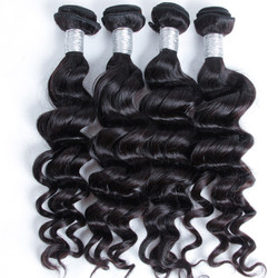 4 bundles 7A Natural Wave Virgin Peruvian Hair Natural Black With Price phw020